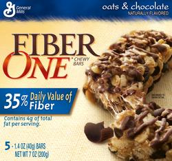 Fiber One Oats & Chocolate Chewy Bars - 5-ct