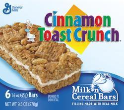 Cinnamon Toast Crunch Milk 'n Cereal Bars - 6-ct