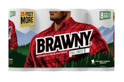 Brawny® Paper Towels - 8 Regular Rolls
