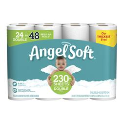 Angel Soft Bathroom Tissue, 24 Double Rolls