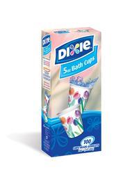 Dixie 5 oz Decorative Bath Cups