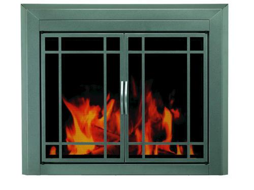Edinburg Medium Prairie Cabinet Style Fireplace Door At