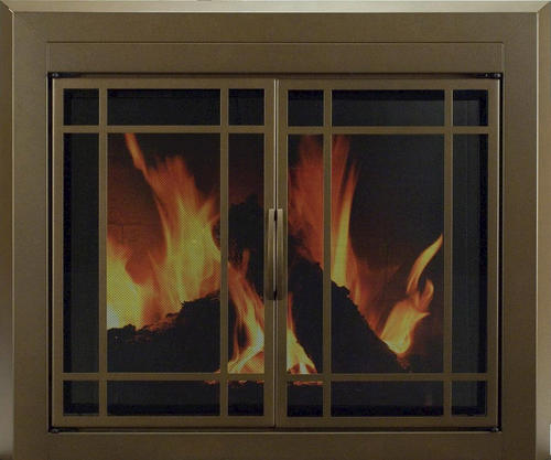 Enfield Large Prairie Cabinet Style Fireplace Door At Menards