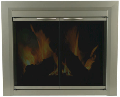 coronet large cabinet style fireplace door at menards