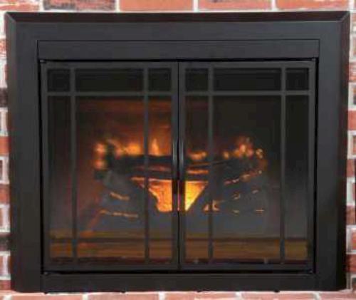 Easton Prairie Cabinet Style Fireplace Door at Menards