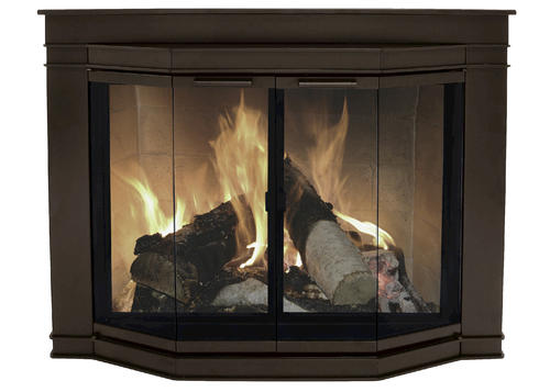 Glacier Bay Small Bi Fold Bay Style Fireplace Door At Menards