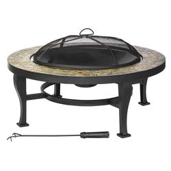 "Backyard Creations™ 34"" Geneva Slate Top Fire Pit"