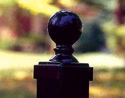 "Gilpin Inc. Elite Grade 2-1/2"" Ball Post Caps for Aluminum Post"