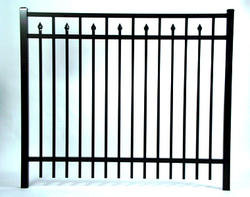 "Gilpin Inc. Elite Grade Baltimore 36"" x 96"" Heavy-Duty Aluminum Fence Panel"