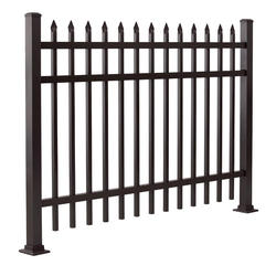 "Gilpin Inc. Elite Grade Castlegate 36"" x 72"" Heavy-Duty Aluminum Fence Panel"