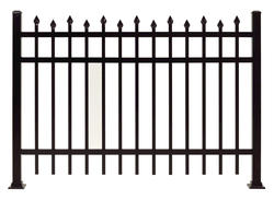"Gilpin Inc. Elite Grade Windsor 72"" x 72"" Heavy-Duty Aluminum Fence Panel"