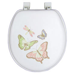 White Soft Butterfly Embroidered Seat