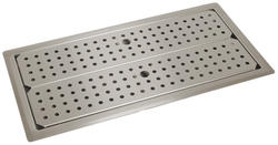 "12"" x 36"" Drop-In Drain Pan with Removable Perforated Insert"