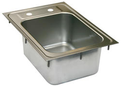 "12"" L x 17"" W Stainless Steel Drop-In Sink (No Faucet)"