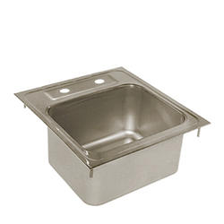 """14"""" L x 15"""" W Stainless Steel Drop-In Sink (No Faucet)"""