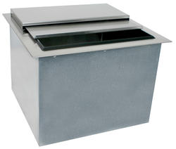 "20"" L x 19"" W Drop-In Ice Bin with Sliding Cover"
