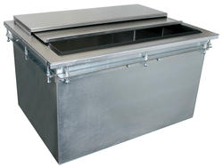 "26"" L x 19"" W Drop-In Ice Bin with Sliding Cover"