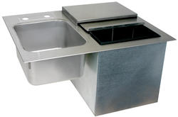 """24"""" L by 19"""" W Drop-In Ice and Sink Station (No Faucet)"""