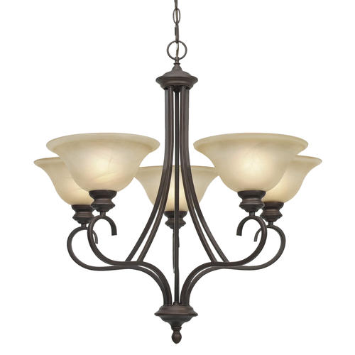 Patriot Lighting Barrington Rubbed Bronze 5 Light Chandelier At