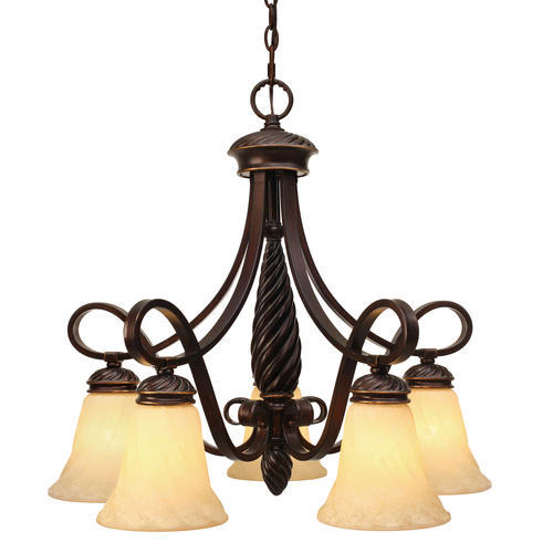 Patriot Lighting Tyler Cordoban Bronze 5 Light Nook Chandelier A