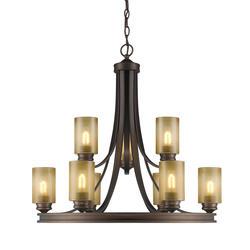 """Patriot Lighting® Roswell 32"""" Sovereign Bronze 9-Light Chandelier"""