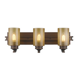 """Patriot Lighting® Roswell 25.25"""" Sovereign Bronze 3-Light Vanity"""