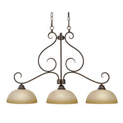 "Patriot Lighting® Newton 35.5"" 3-Light Peppercorn Island Light"