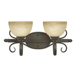 "Patriot Lighting® Newton 20.5"" 2-Light Peppercorn Vanity"