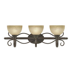 "Patriot Lighting® Newton 30.5"" 3-Light Peppercorn Vanity"