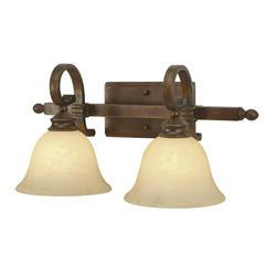 "Patriot Lighting® Weston 19.75"" Champagne Bronze 2-Light Vanity"