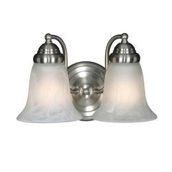 "Patriot Lighting® Lincoln 12"" Pewter 2-Light Vanity"