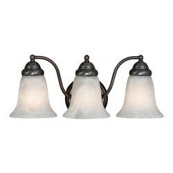 "Patriot Lighting® Lincoln 18"" Oil Rubbed Bronze 3-Light Vanity"
