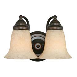 "Patriot Lighting® Lincoln 12"" Rubbed Bronze 2-Light Vanity"