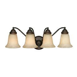 "Patriot Lighting® Lincoln 24"" Rubbed Bronze 4-Light Vanity"