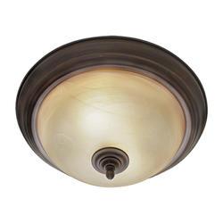 "Patriot Lighting® Barrington 13"" Rubbed Bronze 2-Light Flushmount"