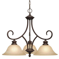 """Patriot Lighting® Barrington 24"""" Rubbed Bronze 3-Light Nook Chandelier"""