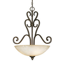 "Patriot Lighting® Lafayette 21.75"" Burnt Sienna 3-Light Pendant Bowl"