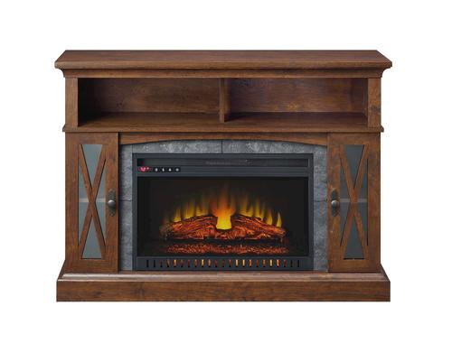 Whalen Sheldon 48 Medium Cherry Electric Fireplace At Menards