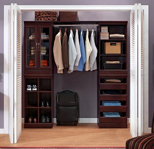 Closet Organization System Cherry
