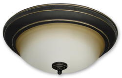 "Ecolight 15"" Oil Rubbed Bronze Tavallo Flush Mount"