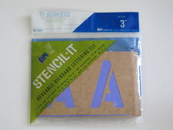 Reusable Oil Board Stencil Letter and Number Kit