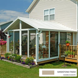EasyRoom™ 14' x 16' Gable Roof Single-Pane Glass Sunroom Kit