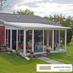 EasyRoom™ 12' x 15' Sloped Roof Single-Pane Glass Sunroom Kit