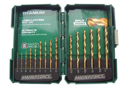 Masterforce® 15-Piece Titanium Drill Bit Set