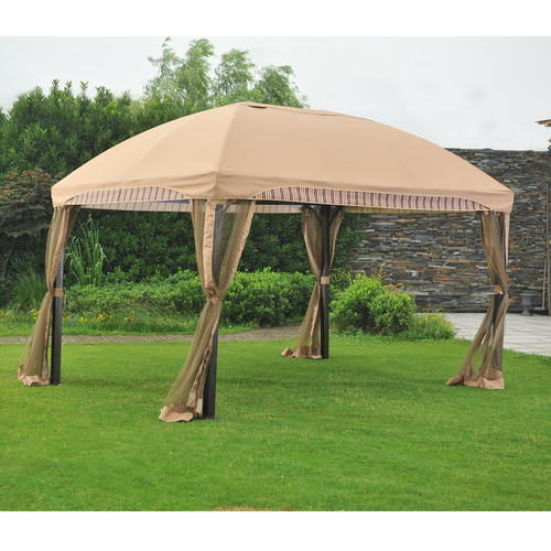 Replacement Canopy For Backyard Creations Gazebo : Backyard Creations? Curved Gazebo with Mosquito Netting at Menards?