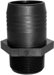 "1"" MPT x 1/2"" Barb Polypropylene Straight Hose Adapter"