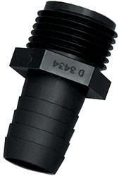 """3/4"""" M GHT x 3/8"""" Polypropylene Barb Garden Hose Adapter"""