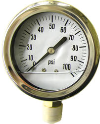 Liquid-Filled Pressure Gauge (100 PSI)