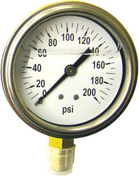 Liquid-Filled Pressure Gauge (200 PSI)