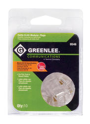 Greenlee RJ45 WE/SS 8P8C Modular Plugs (Cat5e, Cat5) (10-PacK)